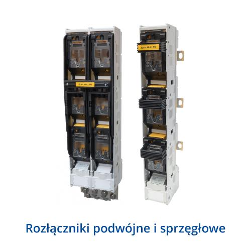 Rozłączniki listwowe typu SL podwójne i sprzęgłowe