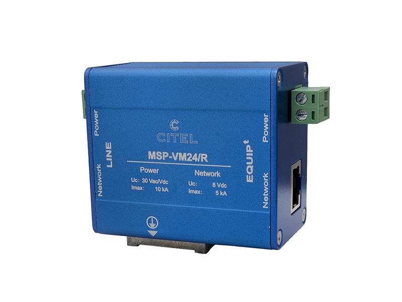 25Ogranicznik przepięć do zabezpieczania kamer monitoringuMSP-VM24/R – C420412