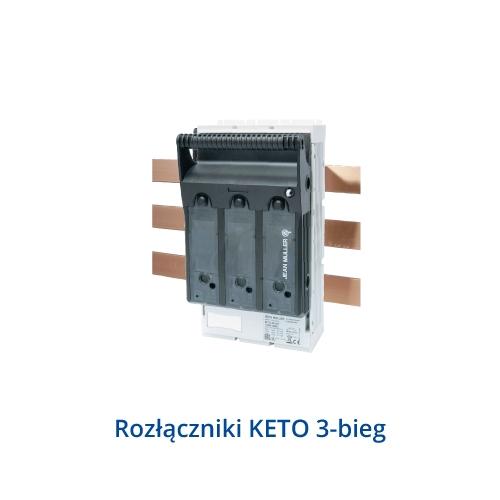Rozłącznik skrzynkowe KETO do montażu na szynach 100mm