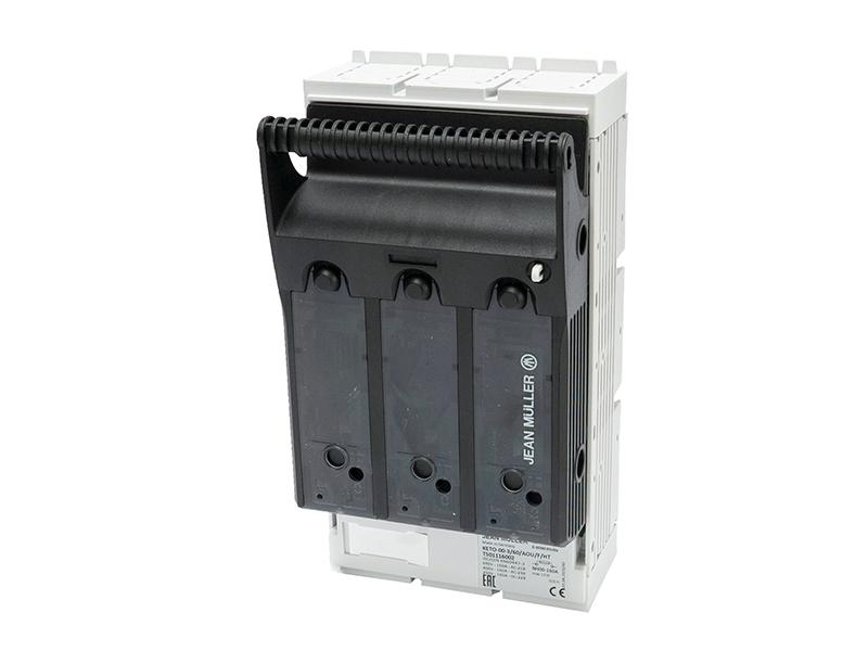 23Rozłącznik bezpiecznikowy skrzynkowy KETO na szynę o rozstawie 60mmKETO-00-3/60/AOU/F/HT – T501116002