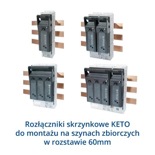 Rozłącznik skrzynkowe KETO do montażu na szynach 60mm