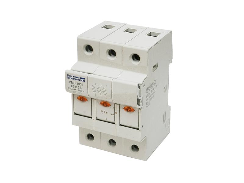34Podstawa do wkładek cylindrycznych 10×38 z sygnalizacją LEDCMS103 – FD305029D