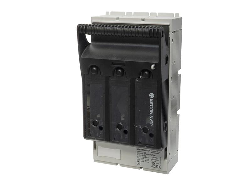 24Rozłącznik bezpiecznikowy skrzynkowy KETO na szynę o rozstawie 60mmKETO-00-3/60/AOU/R95/HT – T501556002